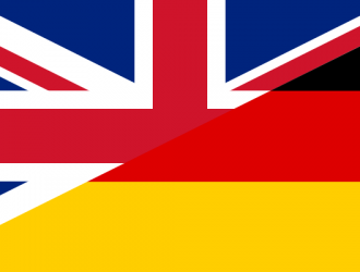 Flag of the United Kingdom and Germany